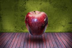 Surrealistic apple in the room Stock Photo