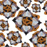 Surrealistic floral pattern Royalty Free Stock Images