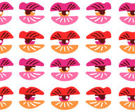 Surrealistic lips and eyes. Seamless pattern. Vector illustration eps 10 royalty free illustration