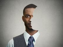 Free Surrealistic Portrait Front With Cut Out Profile Of A Young Man Stock Images - 50764054