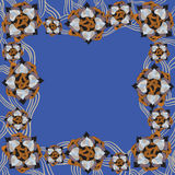 Surrealistisch bloemenpatroon vector illustratie