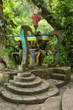 Surrealistische Betonkonstruktion bei Edward James arbeitet Xilitla Mexiko im Garten stockfoto