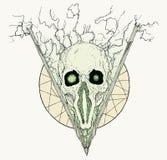 Surrealistische schedel met driehoek vector illustratie