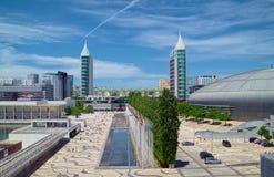 Surrealistische Stadtlandschaft Lizenzfreies Stockfoto