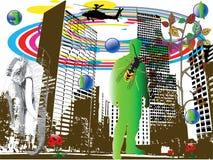 Surrealistische vector Stock Afbeeldingen