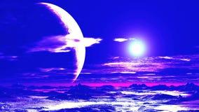 Surrealistische Vreemde Zonsondergang stock videobeelden
