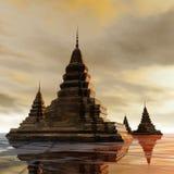 Surrealistyczna pagoda Obraz Royalty Free