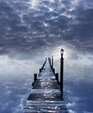 Surrealistyczna wodna scena bez horyzontu Zdjęcie Royalty Free