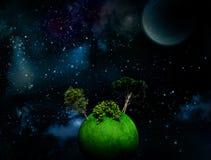 Surrealistyczny Astronautyczny tło Zdjęcie Royalty Free
