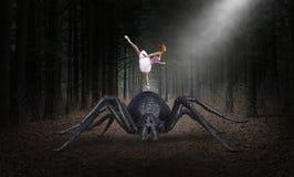 Surrealistyczny balerina tancerz, potwora pająk ilustracja wektor