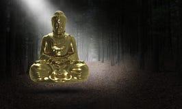 Surrealistyczny Buddha, Buddist, buddyzm, statua, religia royalty ilustracja