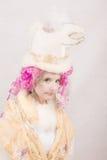 Surrealistyczny charakter z Ptasim kapeluszem Zdjęcia Royalty Free