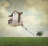 Surrealistyczny dom Zdjęcia Stock