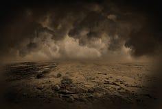 Surrealistyczny Krajobrazowy tło ilustracja wektor
