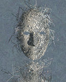 Surrealistyczny Maskowy abstrakt Fotografia Royalty Free