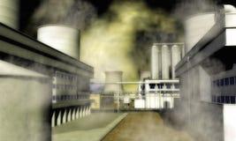 Surrealistyczny Przemysłowy teren Obraz Stock