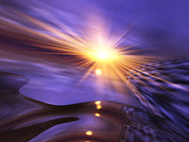 surrealistyczny tło horyzont ilustracja wektor