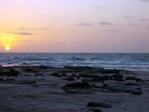 Surrealistyczny zmierzch przy kabel plażą Zdjęcie Royalty Free