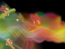 Surreality vibrante visual do sonho abstrato da imaginação da rotação do partido do caos da produção da mostra do fractal, mágica foto de stock