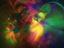 Surreality vibrante visual do sonho abstrato da rotação da decoração do fractal, mágica intrincada fotos de stock
