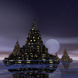 SurrealPagoda Royalty Free Stock Images