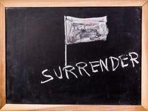 Surrender word on blackboard Stock Photography