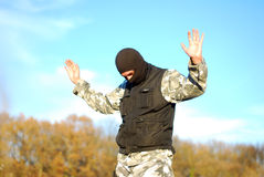 The surrendered criminal Royalty Free Stock Photo