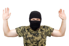 The surrendered criminal royalty free stock images
