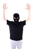 The surrendered criminal in a mask Royalty Free Stock Image