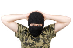 The surrendered terrorist Stock Image