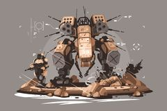 Surreskortinfanteri stock illustrationer