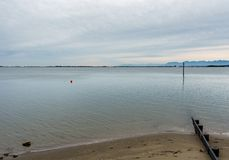 SURREY, CANADA - 27 octobre 2018 : Secteur de parc de Blackie Spit à la baie de frontière photographie stock libre de droits