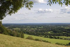 Surrey countryside from Box Hill. UK Stock Photos