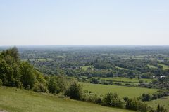 Surrey countryside near Dorking. England Royalty Free Stock Images