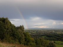 Surrey-Hügel-Bereich der hervorragenden Schönheit lizenzfreies stockbild