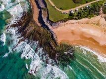 Surrfors över havet arkivbilder