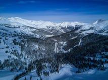Surrfotoet - snöa dolda berg av Colorado royaltyfria bilder