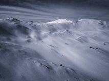 Surrfotoet - snöa dolda berg av Colorado arkivbild