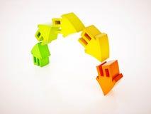 surriscaldamento del mercato immobiliare Fotografia Stock