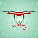 Surrleveransgodis Modern leverans av gåvor för jul Gr stock illustrationer