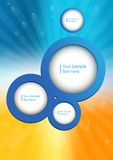 Surround circles for design. Surround circles to design with inner shadow on summer background for website Vector Illustration