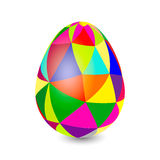 Surround the egg with a triangular ornament Stock Photo