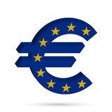 Surround the Euro sign. In the colors of the flag of the European Union. Vector illustration Royalty Free Stock Images