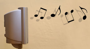 Surround hi-fi speaker music concept 1 Stock Photo