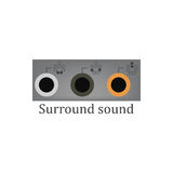Surround sound vector Stock Images