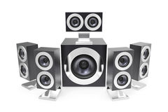 Surround speakers Royalty Free Stock Image