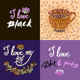 Surround yourself with good people and black coffee.I love black Royalty Free Stock Photos
