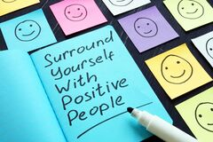 Free Surround Yourself With Positive People Motivation Phrase Stock Images - 170569874