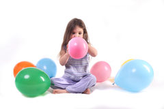 Surrounded by Balloons stock photo