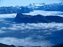 Surrounded in Clouds Royalty Free Stock Images